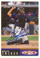 Brad Cresse Arizona Diamondbacks 2002 Topps Total Autographed Hand Signed Trading... by Hall+of+Fame+Memorabilia