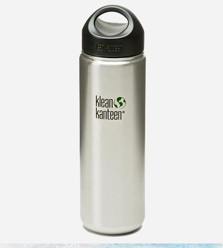 Klean Kanteen Stainless Steel Wide Mouth Water Bottle (Loop Cap / 27 Oz.) front-918197