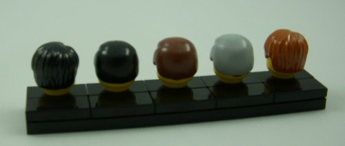 LEGO Minifigure Minifig Hair Pack of 5 - Male Hair Pieces - 1