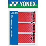 Yonex Tacky Fit Grip Ac143ex-3 for Badminton Tennis Racquets Red