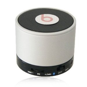 New Portable Mini Speaker Wireless Bluetooth Speaker for Apple iPad iPad 2 and iPad withUSB charging cable-white