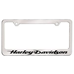 license plate frame harley davidson sportster script font on bottom