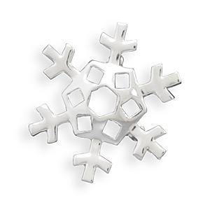 Snowflake Fashion Pin or Pendant Fine Silver Plate