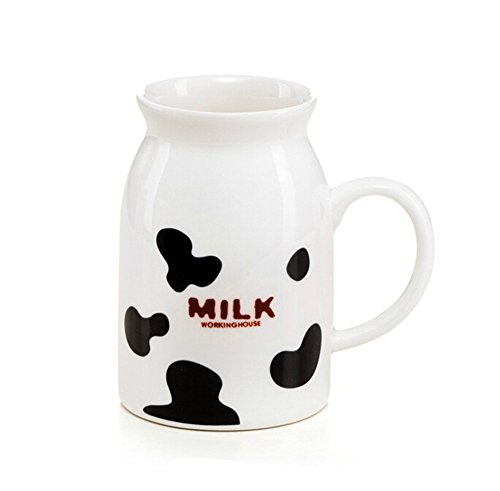 Buyneed Lovely Black Spot Morning Cup Coffee Milk Ceramic Mug Christmas Birthday Best Gift
