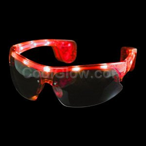 LED Sporty Sunglasses - Red - 1