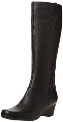 (狂跌)其乐Clarks Women's Cardy Boot 女士卡尔迪 防水透气真皮长靴折后$99.75