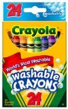 Crayola 52-6924 Washable Crayons Assorted Colors 24 Count