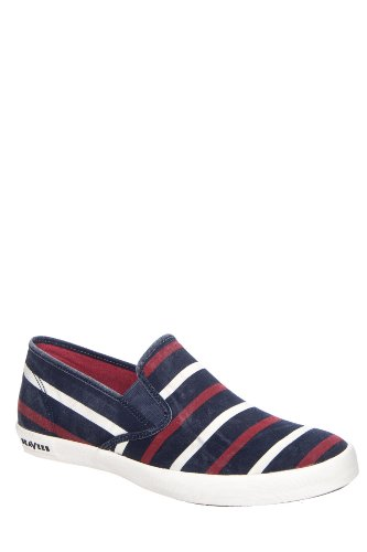 Seavees Men's Baja Slip On Catalina Stripe Shoe