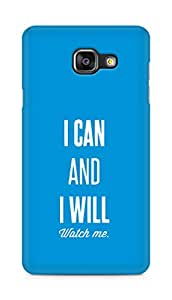 AMEZ i can and i will watch me Back Cover For Samsung Galaxy A5 (2016 EDITION)