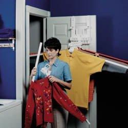 Hanging Garment Drying Rack Short/Long (White) (22