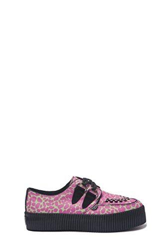 UNDERGROUND CREEPERS SNEAKER in tela, lacci, grigio e rosa, misura 37