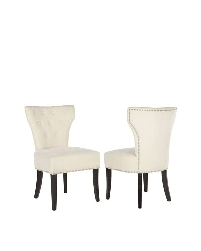 Safavieh Set of 2 Jappic Side Chairs, Natural Cream