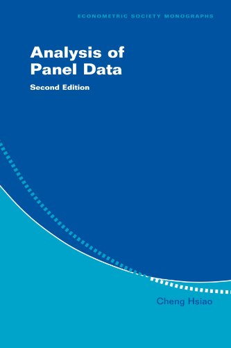 Analysis of Panel Data 2nd Edition Paperback (Econometric Society Monographs)