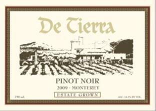 2009 De Tierra Monterey Pinot Noir 750 Ml