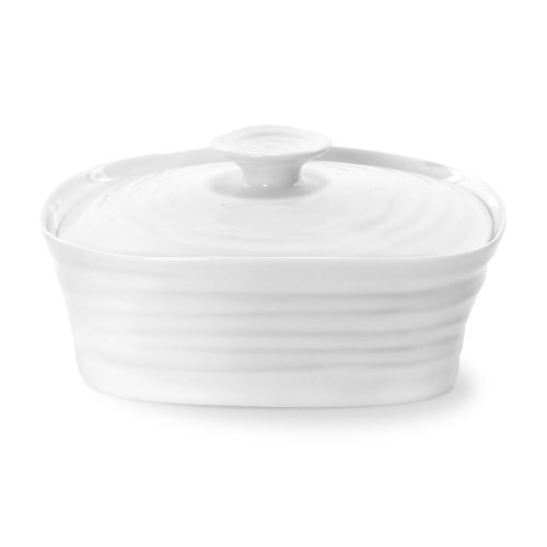 Portmeirion Sophie Conran White Covered Butter Dish (White Covered Butter Dish compare prices)