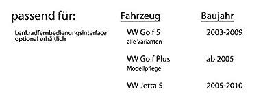 VW Golf 5 V - Kenwood DDX4016BT - 2DIN Bluetooth | DVD | USB | CD | MP3 Autoradio - Einbauset