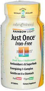 Just Once, Iron Free, Food-Based Multivitamin, 30 Tablets by Rainbow Light