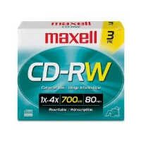Max630030Us Disc Cdrw 700Mb 3Pk