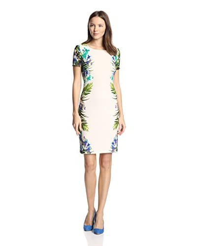 Gabby Skye Women's Floral Border Print Sheath Dress