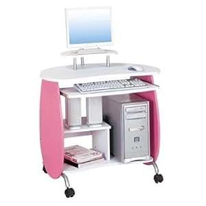 Amazon.com: Techni Mobili Kids Pink Computer Desk: Toys & Games