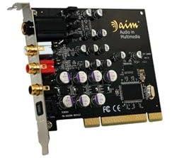 aim低音ボリュームアップ迫力サウンドカード SC8000 アナログ出力 RCAx2(Left/Right)ヘッドホン(ステレオフォン)