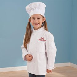 Personalized Chef Jacket and Hat -Size: Medium,