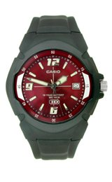 Casio Casual Red Dial Men's Watch #MW-600F-4AVCF