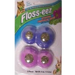 FM Brown's Floss-eez Stuffed Figure 8 Teether Dental Chew Treat for Small Animals-2 pack