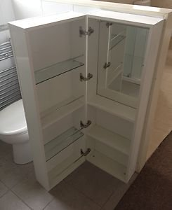 Cooke Lewis Bathroom Lounge Wall Hung Tall Deep White Cabinet Rrp 179 Kitchen