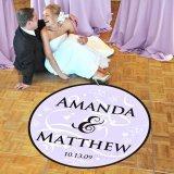 "Standard (39"") Beach Wedding Dance Floor Decal"