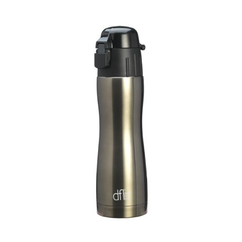 Design For Living Stainless Steel Double-Walled Water Bottle, Titanium, 470Ml (16Oz) front-410289