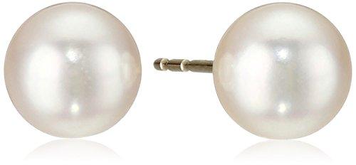14k-Gold-Round-Akoya-Cultured-Pearl-AA-Quality-Stud-Earrings