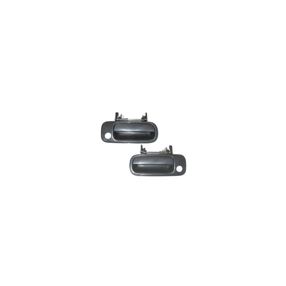 Motorking 6922033011C1 92 96 Toyota Camry Black Non  Painted Replacement 2 Outside Door Handles 92 93 94 95 96