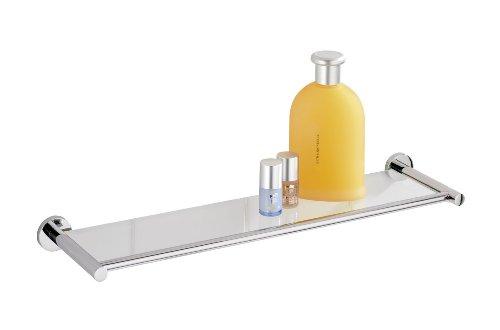 Wenko-17810100-Glasablage-Elegance-Power-Loc-Befestigen-ohne-Bohren-Glas-Chrom-515-x-4-x-135-cm