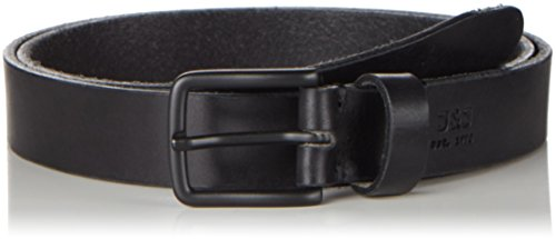JACK & JONES Jjilee Leather Belt Noos, Cintura Uomo, Nero (Black), 105 cm (Taglia Produttore: 105)