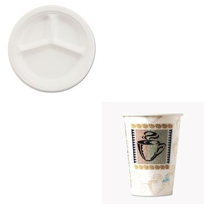 KITDXE5342CDPKHTMVESTRYCT - Value Kit - Chinet Paper Dinnerware (HTMVESTRYCT) and Dixie Hot Cups (DXE5342CDPK) kitmmmc60stpac103637 value kit scotch value desktop tape dispenser mmmc60st and pacon riverside construction paper pac103637