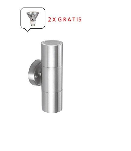 Moderne-Halogen-Edelstahl-Auen-Wandleuchte-Bornholm-2-flammig-up-and-down-Leuchte-inklusive-Leuchtmittel