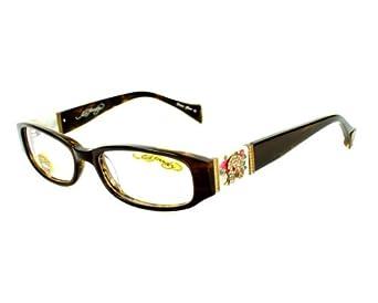 Eyeglass Frames Ed Hardy : Amazon.com: Ed Hardy Eyeglasses frame EH 0728 B Tortoise ...