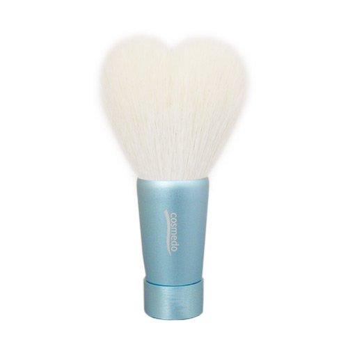匠の化粧筆コスメ堂 熊野筆 ハート型洗顔ブラシ Mサイズ ブルー 全長80mm