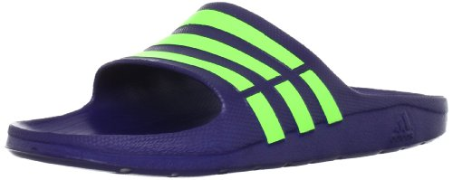 Adidas Duramo Slide, Ciabatte da Unisex Adulto, Blu (Azul/Verde), 44.5 EU (10 UK)