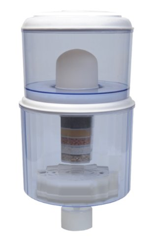4 Gallon Water Cooler Filter Purifier - Save $$$ - Place on Cooler - Transform Tap Water to Healthy Mineral Drinking Water