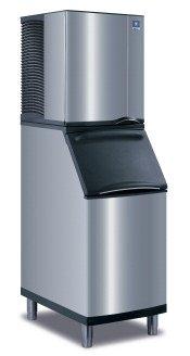 Manitowoc Iy-0524A_B-420 485 Lb Air-Cooled Half Cube Ice Machine W/ Storage Bin