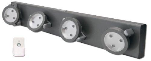 Rite Lite Lpl704Rc 12 Led Track Light With Remote, Grey