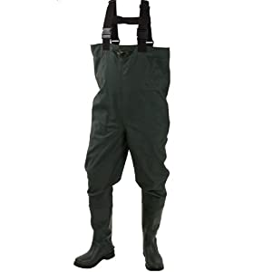Frogg Toggs Cascades 2-Ply Rubber Bootfoot Cleated Chest Wader by Frogg Toggs