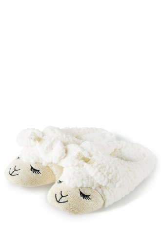 Image of Bath & Body Works COUNT SHEEP Slippers LARGE fits size 8-10  Happy Lambie 2012 (B009TIZGBW)