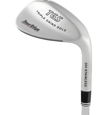 Tour Edge Men'S Tgs Triple Grind Sole Wedge (Right Hand, Stainless Steel, Uniflex, 58 Degrees, 35.25 Inches)