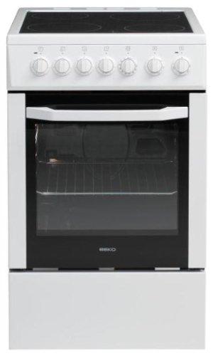 Beko CSS 57100 GW cuisinière - fours et cuisinières (Autonome, Blanc, Electrique, Electrique, Convection, Grill, 0 - 250 °C)