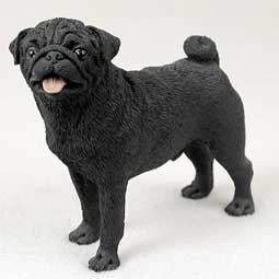 Resin Animal Figurines - Black Pug Figurine