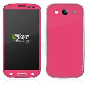 Handy Skin Aufkleber Sticker für Neon Pink Galaxy S3 LTE I9305 - Samsung Desi...