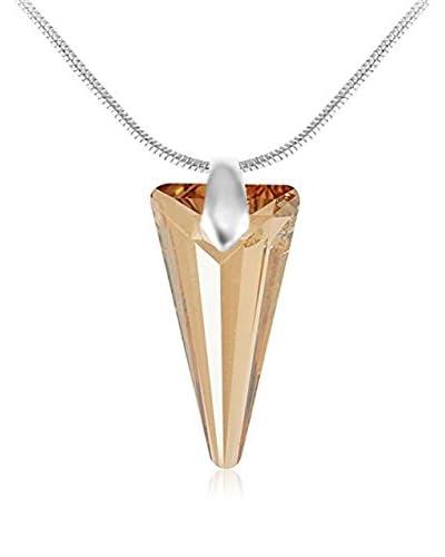 So Charm with Crystals from Swarovski Collar  Dorado